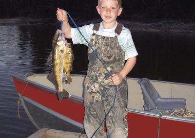 hunter with fish