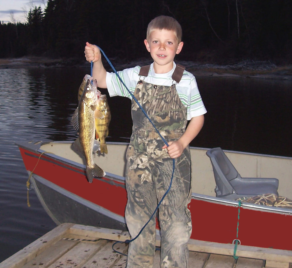 hunter with fish